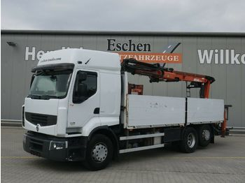 Dropside/ flatbed truck Renault 460 DXI*Liftachse*Klima*Atlas Kran 170.2*1.Hand