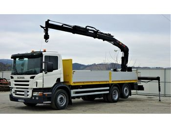 Scania P340 Pritsche 6,80m +Kran/Funk*6x4*Topzustand!  - dropside/ flatbed truck