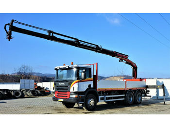 Scania P360 Pritsche 6,60m +Kran/FUNK*6x4*Topzustand!  - dropside/ flatbed truck