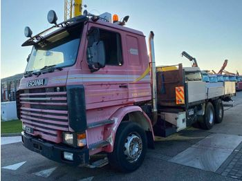 Dropside/ flatbed truck Scania R113 6X2 MANUAL FULL STEEL