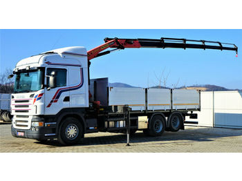 Scania R480 Pritsche 6,50m +Kran/FUNK *6x2*Topzustand!  - dropside/ flatbed truck
