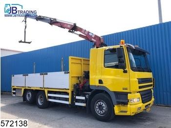 DAF 85 CF 340 6x2, HMF Crane , Manual, Airco, Borden, Rotator, Pallet hook, Analoge tachograaf - dropside truck