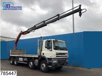 DAF 85 CF 360 8x4, Manual, Palfinger crane, Steel suspension, euro 4 - dropside truck