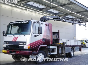Dropside truck DAF AE45CE 4X2 Manual Hartholz-Boden Euro 2 Hiab 060-3: picture 1