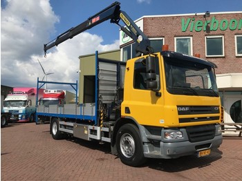 DAF CF75-310 PALFINGER PK16502 MANUAL TOP CONDITION !! - dropside truck