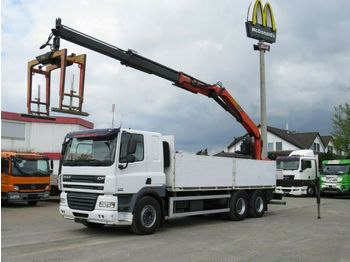 DAF CF 85/460 6x4 Pritsche Heckkran Palfinger PK 210  - dropside truck