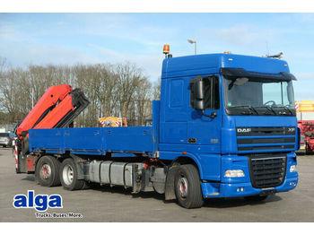 DAF XF 105.410 T/Container/Kran Palfinger PK29002  - dropside truck