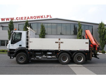 IVECO 6x4 TRAKKER PALFINGER PK 18002 EH 16 M WITH ROTATOR - dropside truck