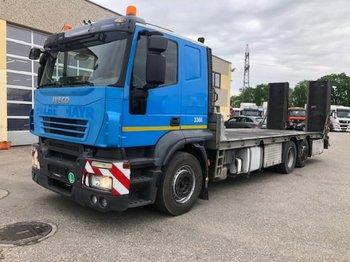 Iveco AT260S42 , Baggertransporter,Hydraulische Rampen  ,Seilwinde - dropside truck