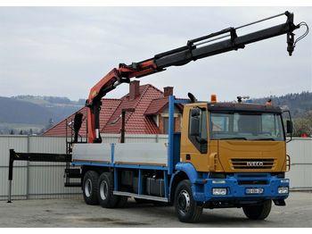 Iveco Iveco Trakker 380 * Pritsche  7,20m + KRAN * 6x4  - dropside truck
