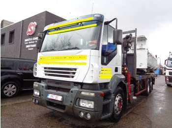 Dropside truck Iveco Stralis 350 fassi F 160 /