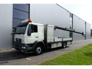 Dropside truck MAN 12.250 4X2 MANUAL EURO 3 FASSI M30A.13 (2007)