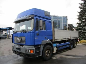 Dropside truck MAN 26.464 + Hiab 140: picture 1