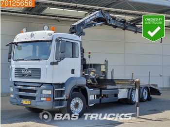 MAN TGA 26.320 6X2 Steering-Axle Kran Crane HIAB 244 EP-4 HIDUO - dropside truck
