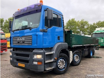 Dropside truck MAN TGA 350 PK 8X2-4BL EURO 3 MANUAL GEARBOX HOLLAND TRUCK