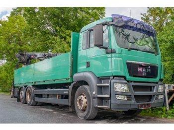 MAN TGS 26.400 6x2-2 BL Pritsche Hiab Kran XS 166 K-2PRO - شاحنة مفصلية الجوانب