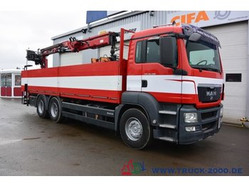 MAN TGS 26.400 6x4 Atlas Terex TLC 165.2 11 m=1.5 to - dropside truck