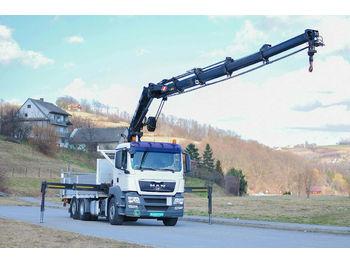 MAN TGS 26.440 Pritsche 6,40 m+Kran/FUNK*6x6!  - شاحنة مفصلية الجوانب