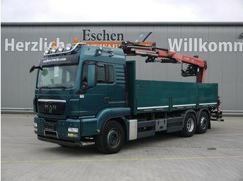 Dropside truck MAN TGS 26.480 6x2,BL, Fassi F 185 BS Kran, Intarder