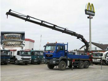 MAN TG-S 26.440 6x6 Pritsche Heckkran Hiab 322 (32m/  - dropside truck
