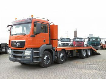 Dropside truck MAN TG-S 35.400 8x4 BL Pritsche hydr. Rampen+Winde