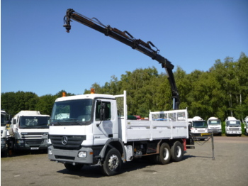 Mercedes Actros 2644 6x4 + Hiab XS144 B-3 HiDuo - dropside truck