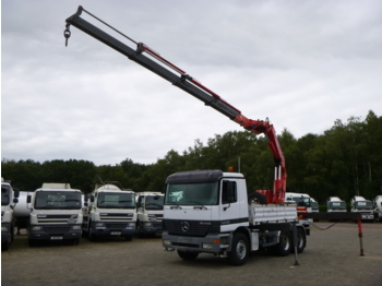 Dropside truck Mercedes Actros 3348 K 6x4 + Fassi 330A.24