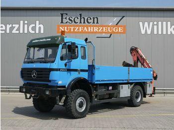 Dropside truck Mercedes-Benz 2031 A, 4x4, Atlas 80.1 Kran, Blatt, Schalter