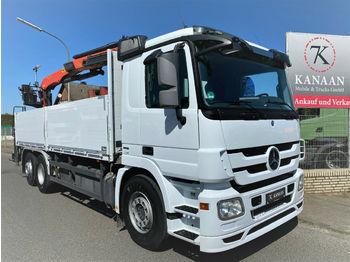 Dropside truck Mercedes-Benz 2544 L Actros Lenkachse PK 21001LA Kran Euro5