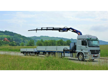 Dropside truck Mercedes-Benz ACTROS 2541 Pritsche 8,60m +Kran/FUNK+Anhänger!