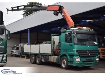 Mercedes-Benz Actros 2536, 23 t/m palfinger, 6x2, Reduction axle, Winch - Seilwinde - dropside truck