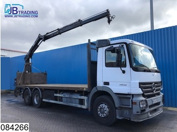 Dropside truck Mercedes-Benz Actros 2632 6x4, Hiab Crane, EPS 16, 3 pedals, 13 Tons axles, Steel suspension, Hub reduction