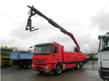 Dropside truck Mercedes-Benz Actros 2641 L 6x2 Pritsche Heckkran