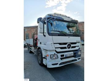Mercedes-Benz Actros palnbil med kran - شاحنة مفصلية الجوانب