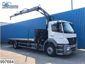 Dropside truck Mercedes-Benz Atego 1828 Hiab 122DS crane, Remote control, Manual, Steel suspension, Airco, Analoge tachograaf