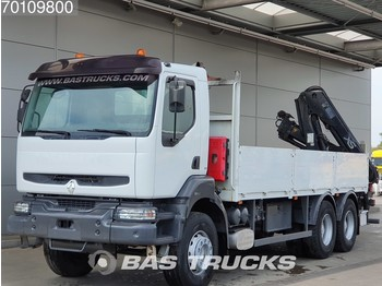 Dropside truck Renault Kerax 360 6X4 Hiab 144-2 Manual Big-Axle Euro 3: picture 1