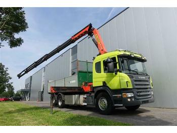 Dropside truck Scania P420 6X2 WITH PALFINGER PK24500 EURO 3