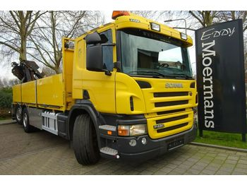 Dropside truck Scania P420 6x2*4 Kran