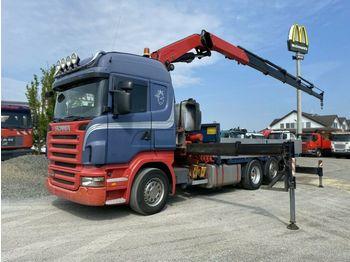 Dropside truck Scania R 480LB 6x2 HLA Pritsche Kran Fassi F450BXP