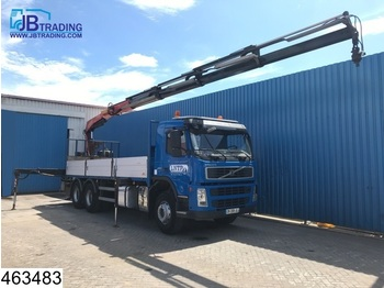 Volvo FM 360 6x4, Fassi crane, Manual, Steel suspension, Airco, Remote control - dropside truck