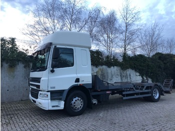 Flatbed truck DAF CF 75 Machinetransporter