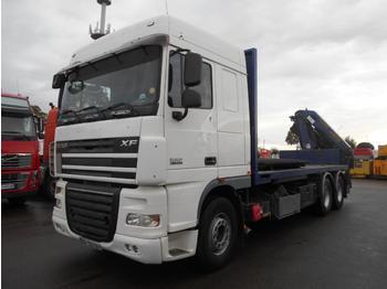 Flatbed truck DAF XF105 410