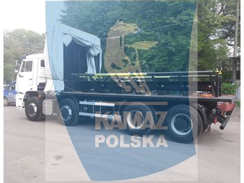 Flatbed truck KAMAZ 8x4 for transporting steel coils