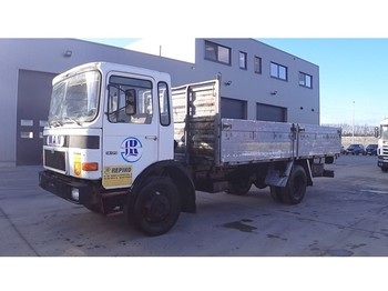 Flatbed truck MAN 14.170 (FULL STEEL SUSPENSION / 6 CYLINDER ENGINE WITH MANUAL PUMP)