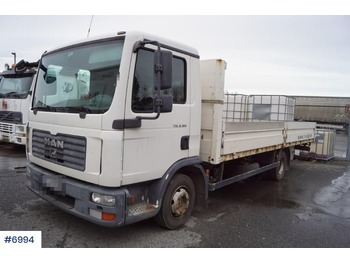 Flatbed truck MAN 8.180