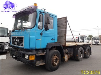 Flatbed truck MAN F 90 33.422 Euro 2
