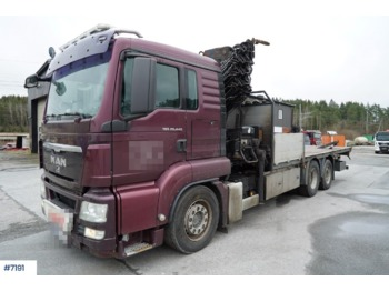 Leasing MAN TGS 26.440 - flatbed truck