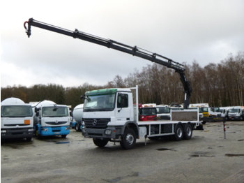 Flatbed truck Mercedes Actros 2636 6x4 + Hiab XS166 ES-5 HiPro + rotator
