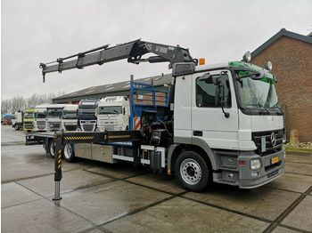 Flatbed truck Mercedes-Benz ACTROS 2532 LENA 6x2 HIAB XS 377 EP-3 HiPro