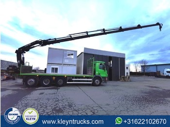 Flatbed truck Mercedes-Benz ACTROS 3236 hiab 211e6 hipro